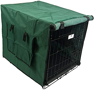 Settledown Waterproof Dog Crate Cover, 36-Inch, Green