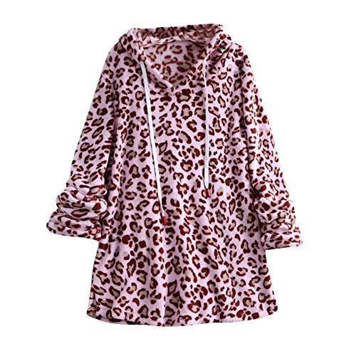 VEMOW Herbst Winter 2018 Heißer Elegante Damen Frauen Mantel Winter Warme Reißverschluss Baumwolle Casual Täglichen Party Mantel Bluse(X4-Rosa, EU-44/CN-XL)