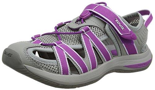 Teva Damen Rosa W's Sandalen, Mehrfarbig (Grey/Dark Purple), 38 EU