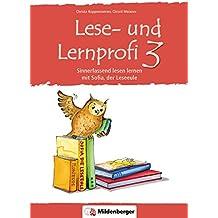 Lese- und Lernprofi 3 – Schülerarbeitsheft: Sinnerfassend lesen lernen mit Sofia, der Leseeule, Klasse 3
