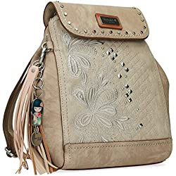 Kimmidoll Bolso mochila-cruzadero bordados