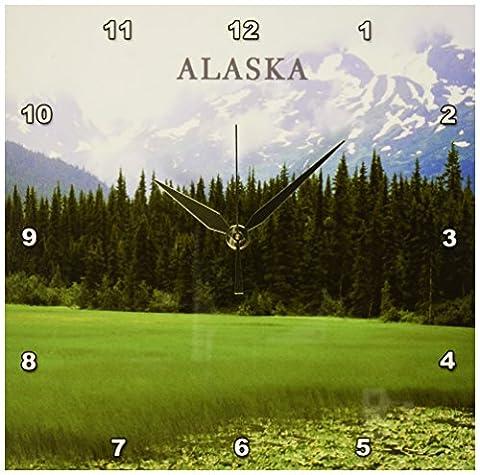 3dRose dpp_62121_1 Beautiful Moose Pass Alaska Wall Clock, 10 by 10-Inch