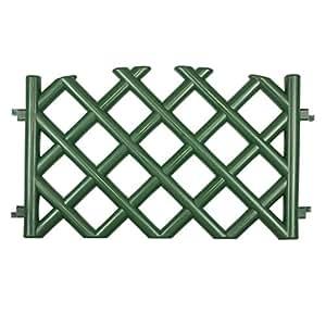 Steccato recinzione da giardino Verde 3,5 m di lunghezza di plastica resistente colore: verde