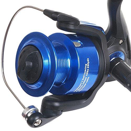 Fladen XTC FD 30, 40& 50(2Plus 1BB) Frontbremse Aluminiumspule Spinning Stationärrolle–Ideal für leichte Surf, Reiz und Spinning Blau blau XTC 50