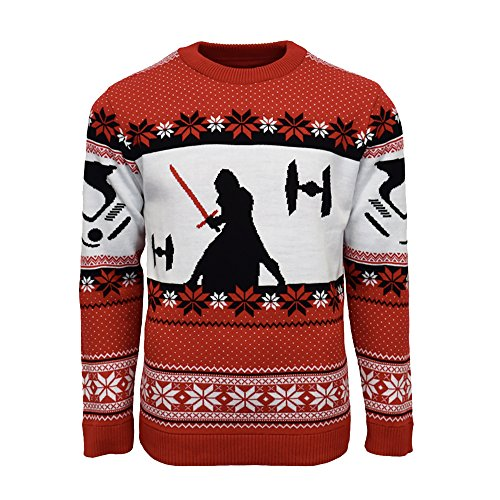 Price comparison product image Official Star Wars Kylo Ren Christmas Jumper / Ugly Sweater - UK M / US S