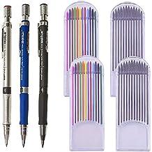 3pcs Portaminas Lápiz de 2.0 mm+48pcs Recargas de Plomo Lápiz Automático Oficina y Papelería