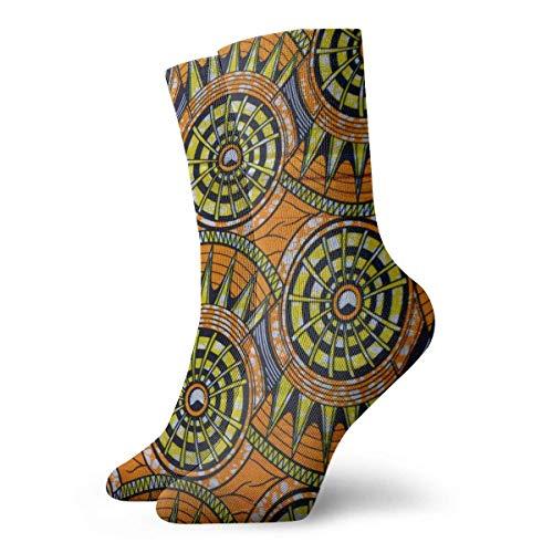 best pillow African Ankara Pattern Casual Crazy Crew Socks Comfortable Novelty Socks 11.8 inch