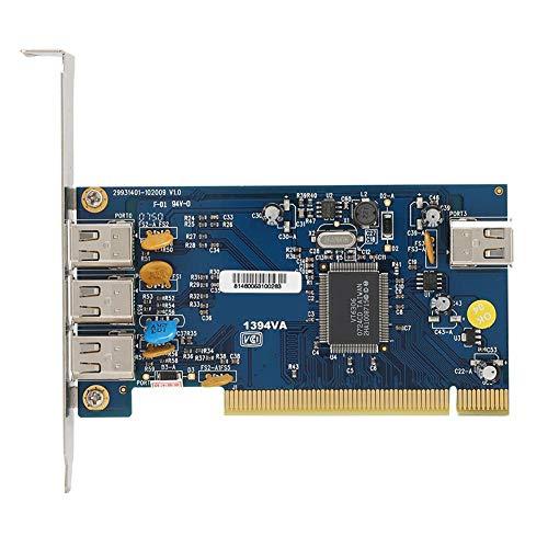 Pci Tastatur (Tonysa Video-Capture-Karte, 1394 Fireware-Karte mit 4 Anschlüssen, 400 Mbit/s, DV-PCI-Anschluss, VT6306-Master-Steuerchip, kompatibel mit Digitalkameras/Camcordern/Tastaturen, ect)