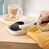 SveBake Grillzange Set - 2er Küchenzange Mehrzweckzange Servierzange aus hochwertigem Edelstahl und Lebensmittelqualität Silikon perfekt zum Kochen, Servieren, Grill und mehr 26 cm + 34 cm -