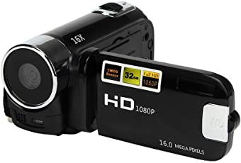 Aoile Camera Camcorders, 16MP High Definition Digital Video Camcorder 1080P 2.7 inches TFT LCD Screen 16X Zoom Camera Recorder