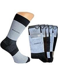 10er-Pack Business-Socken ohne Gummi intensiv abgesetzter Rand an Ferse und Spitze, Business Schriftzug am Schaft