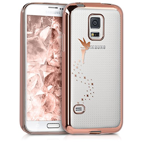 kwmobile Samsung Galaxy S5 Mini G800 Hülle - Handyhülle für Samsung Galaxy S5 Mini G800 - Handy Case in Fee Design Kupfer Transparent