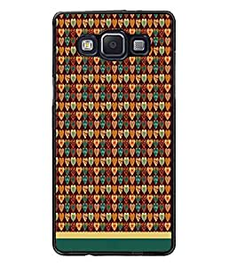 PrintDhaba Heart Pattern D-1665 Back Case Cover for SAMSUNG GALAXY E5 (Multi-Coloured)