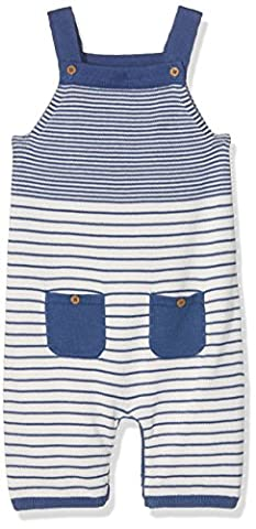 Kite Baby Stripy Knit Dungarees, Blue (Navy), 0-3 Months