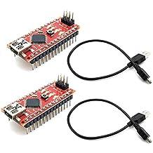 Replace ATmega128 Arduino Compatibile con Nano AptotFun 2stk PRO Mini ATmega328P Board 5V 16M Compatibile con Arduino