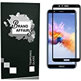 BRAND AFFAIRS™ Present Premium Quality [9h Hardness][HD Clear] 5D Tempered Glass Screen Protector for Huwei Honor 7X (Black)