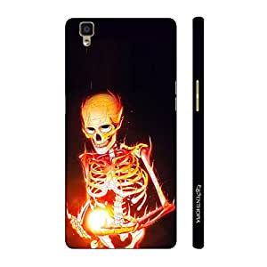 Enthopia Designer Hardshell Case Magic by Skeleton on Fire Back Cover for Oppo R7s