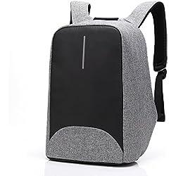 Mochila Antirrobo Selighting USB Mochila de Seguridad con Cargador Mochila Bolsa Impermeable de Colegio Viaje Negocios Mochila para Ordenador Portátil 15.6 Regalo para Estudiantes Hombre Mujer