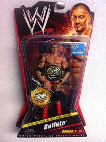 WWE - BATISTA - MATTEL Series 1 - LIMITIERTE EDITION 1 von 1,000 mit Gürtel (Batista Wwe Mattel)
