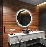 FORAM Design Badspiegel mit LED Beleuchtung Wandspiegel Badezimmerspiegel Nach Maß (Durchmesser: 65cm)