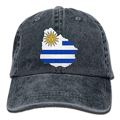 Miedhki Die Flagge der Männer der Frauen von Uruguay-Baumwolle justierter emaillierter Baseball färbte Kappe Erwachsenen gewaschenen Cowboyhut ()