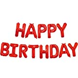 AKA Happy Birthday Balloon Bunting Banner 16 Inch Letters Foil (Red)