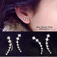 Bristoll Gli orecchini eleganti dell'argento sterlina di S925 delle donne fanno un'orecchiante di cerchio del fiocco
