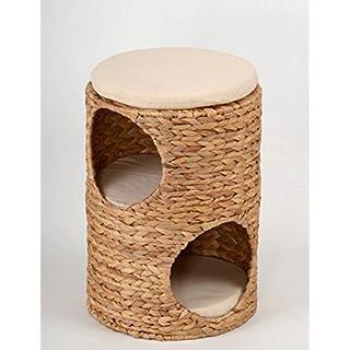 animal-design Katzen-Tonne Katzen-Baum kuschelige Katzenhöhle Katzen-Schlafplatz Katzen-Turm Katzen-Hocker Wave aus Wasserhyazinthe für kleine Katzen