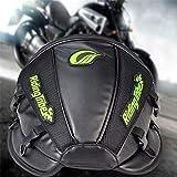 KaTur, borsa da moto, multifunzionale, impermeabile, in poliuretano, borsa per il sedile posteriore, colore: nero