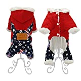 Feidaeu Pet Custume Warm Cotton JumpsuitSoft, bequem, atmungsaktiv und haltbar Hoodie Jacket Clothes