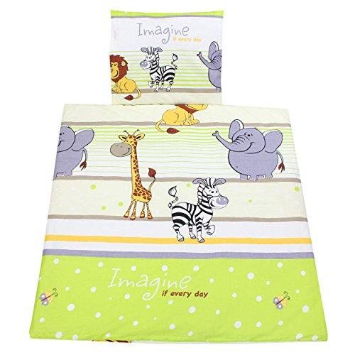 TupTam Unisex Baby Wiegenset 4-teilig, Farbe: Imagine Grün, Größe: 80x80 cm Grüne Bettdecken