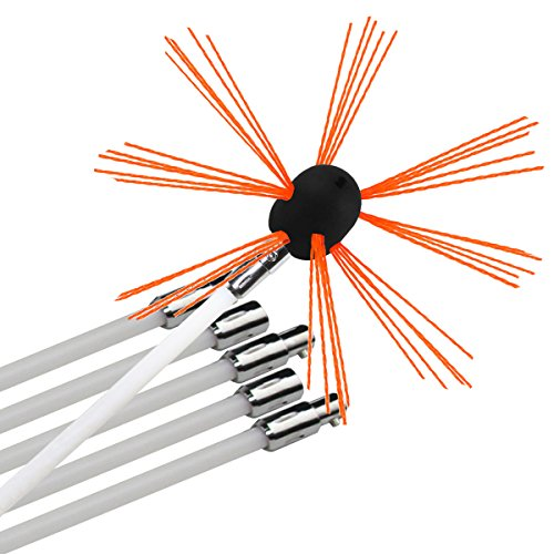 Chimenea barrido taladradora brush-electrical Kits de herramienta de limpieza con varillas de...