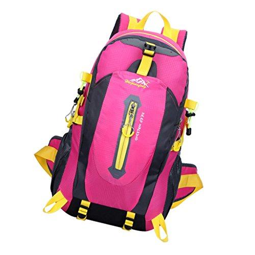 Imagen de deportiva   bolsa de senderismo acampar al aire libre resistente al agua deporte 40l  fucsia, 30 * 52 * 20cm