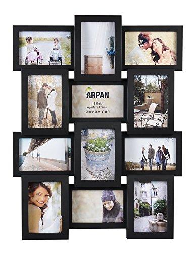 Arpan Bilderrahmen für 12 Fotos á 15x10cm Erhältlich in Schwarz, Pink oder Weiß
