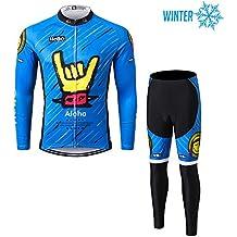 Thriller Rider Sports® Uomo Sport all' aria aperta MTB Inverno Termico Warm ruota Giacca a maniche lunghe e pantaloni tuta, Uomo, Aloha C, L