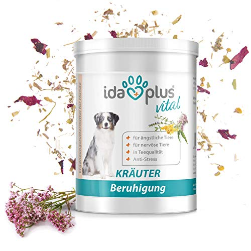 Ida Plus - Kräuter Beruhigung (150 g) - 100% natürlich in Tee-Qualität für Hunde & Katzen, Nahrungsergänzungsmittel für die Beruhigung