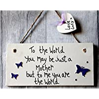 MadeAt94 Birthday Mothers Day Gifts Mum Plaque with Butterflies Personalised