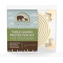 Mama Bear - Protection para esquinas y bordes. Kit de seguridad: protector de bordes (5,5 metros) con 8 esquinas acolchadas y 3M cinta de doble cara de alta calidad. El Mejor Protector para esquinas de rapport calidad-precio. Garantía 100% de Devolución del Dinero.