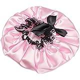 TOOGOO(R) Chapeau De Douche Bain Protection Soin Accessoire Cheveux Rose