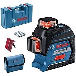 Bosch Professional Laser Lignes GLL 3-80 ( 1,5 V, Laser rouge, Portée 30 m, Poche de rangement)