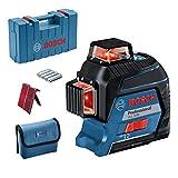 Bosch Professional Linienlaser GLL 3-80 (max. Arbeitsbereich: 30 m, 4x AA Batterie, im Handwerkerkoffer)