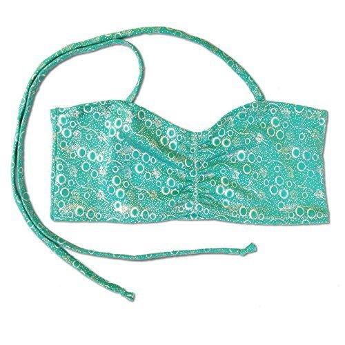 Kostüme Blasen (UraMermaid Meerjungfrau Kostüm Bikini Bh Top - Jade Grün Blasen,)