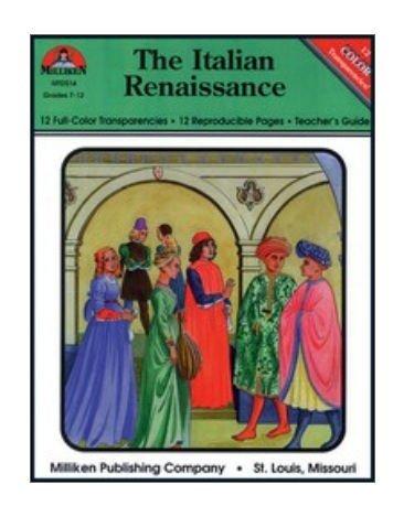 MILLIKEN PUBLISHING Italian Renaissance (W/Transparencies)