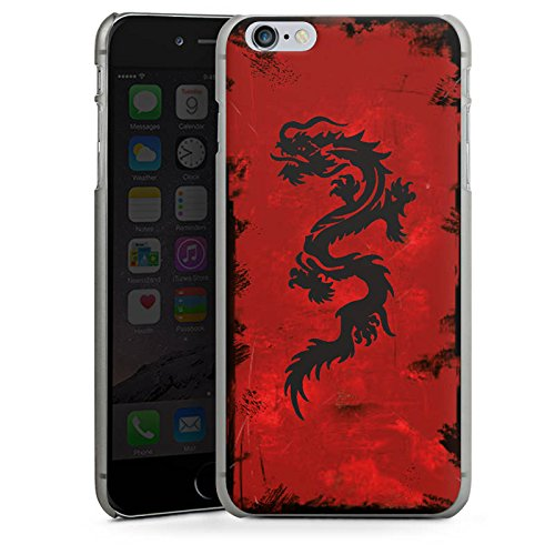 Apple iPhone X Silikon Hülle Case Schutzhülle Drache Tribal Tattoo Hard Case anthrazit-klar
