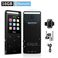 16GB MP3 Player with Bluetooth Speaker and HIFI FM Radio 50 Hours Playback Lossless Movie Music Player for Running Sports MP3 Player Expandable up to 128GB