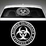 Zombie Outbreak Response Team Heckscheibenaufkleber 40,0 cm x 40,0 cm Auto Aufkleber JDM OEM Tuning Sticker Decal 30 Farben zur Auswahl