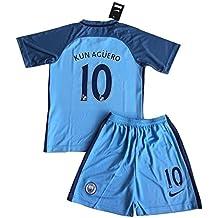 de05cd6b3 Manchester City 2016 – 2017 Aguero # 10 Home, maglia e pantaloncini da  calcio per
