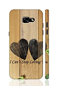 SRS Love Design & Wood Pattern With Lines 3D Back Cover for Samsung Galaxy A5 2017