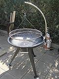 XXL BBQ Schwenkgrill Grill /Edelstahl / Feuerschale 80 cm /Grillrost 70 cm /Rost