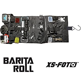 Large Canvas Roll Up Bag Travel Case compatible with GoPro Cameras by XS Foto - Barita Roll - (BG09)